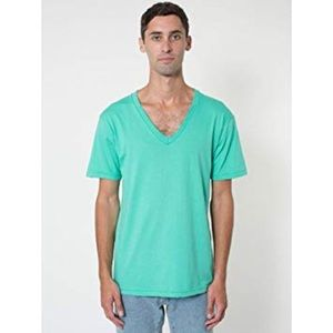 AMERICAN APPAREL V Neck T-Shirt in Mint